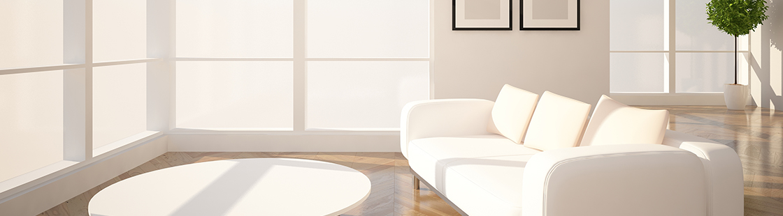 white couch with coffee table